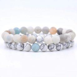 Amazonite distance bracelet set