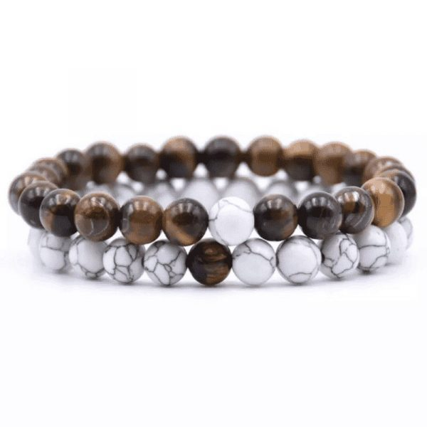 Tiger eye distance bracelet set