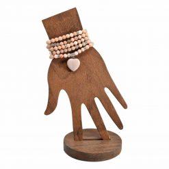 Sunstone mala with heart pendant