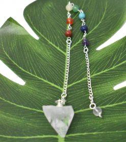 7 Chakra Pendulum with Apophyllite Point