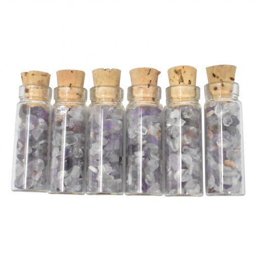 Amethyst Crystal Chip Vial Bottle