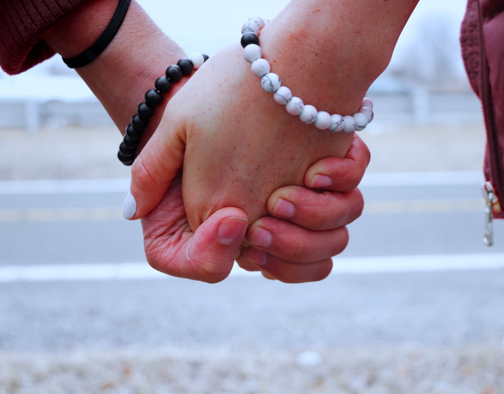 Black and white bracelets for couples