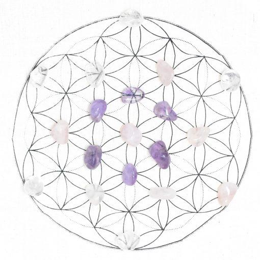 Flower of Life Crystal Grid Kit