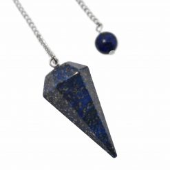 Lapis Lazuli Faceted Pendulum