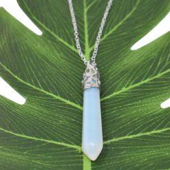 Opal Filigree Cap Necklace