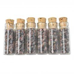 Rhodonite Crystal Chip Vial Bottle