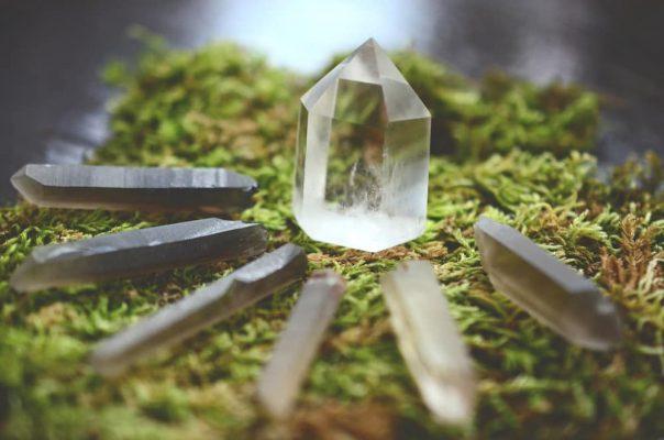 Smokey quartz crystal points for stress